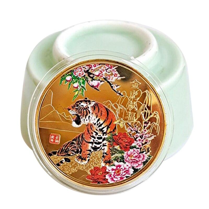 2022 новый год монета двенадцать знаков зодиака Тигр строительный подарок новинка