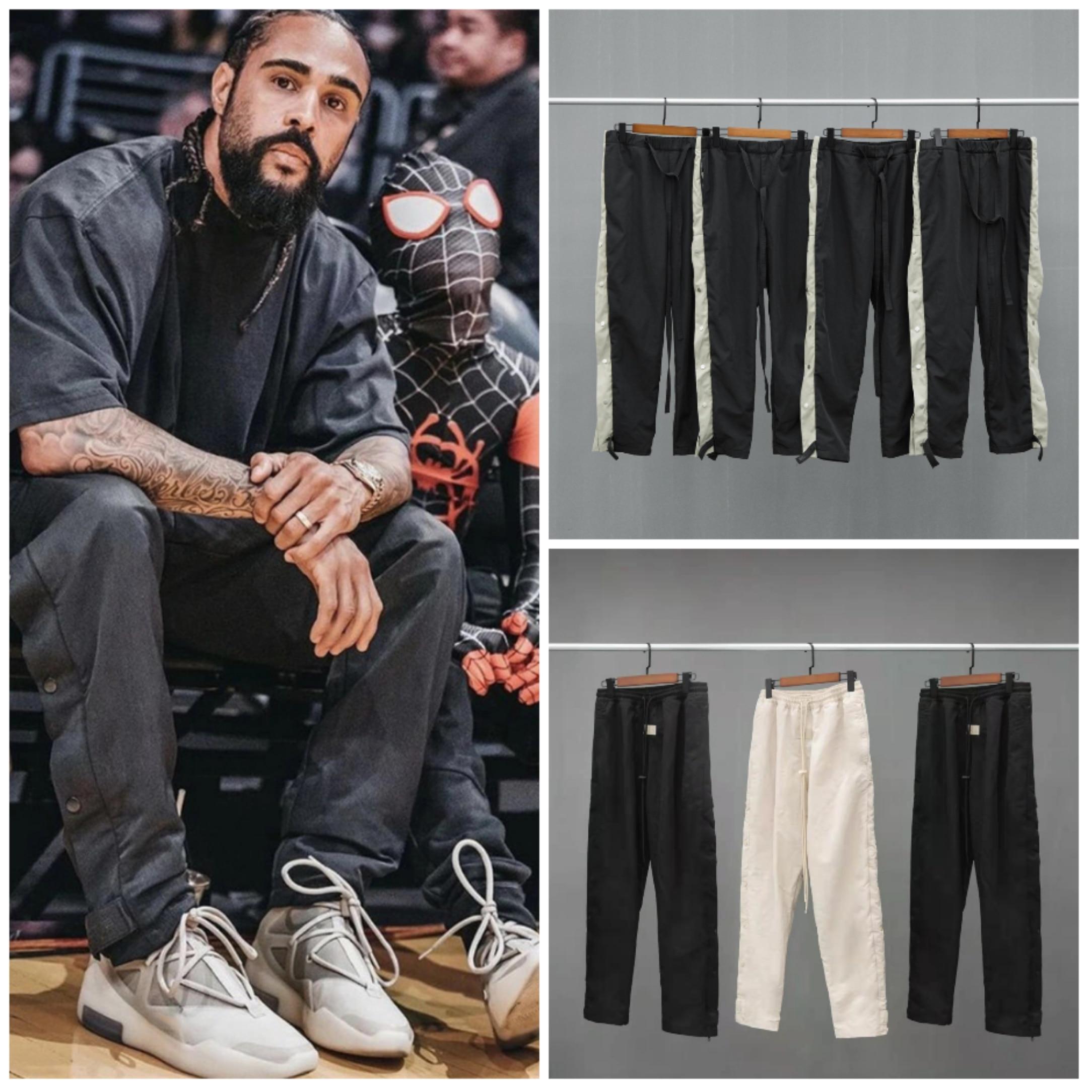 Уличные трендовые свободные мужские брюки большого размера для женщин и мужчин, спортивные повседневные нейлоновые брюки Джастина Бибера ...