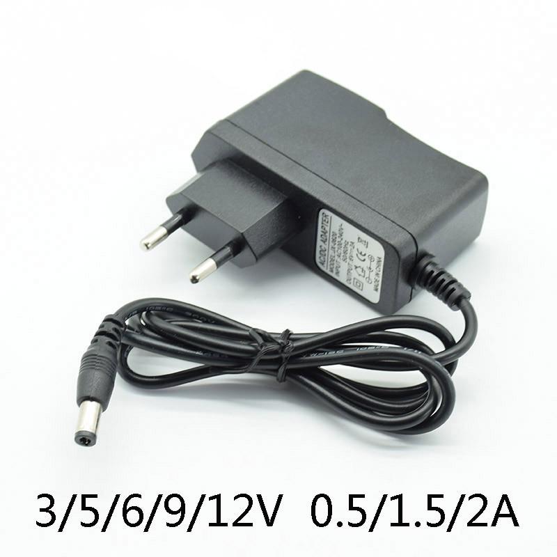 DC 3V2A 5V2A 6V 2A 9V 12V 0.5A 500mA Netzteil Ladegerät Eu-stecker 5,5mm * 2,5mm (2,1mm) AC zu DC Mit lampe AC Konverter Adapter