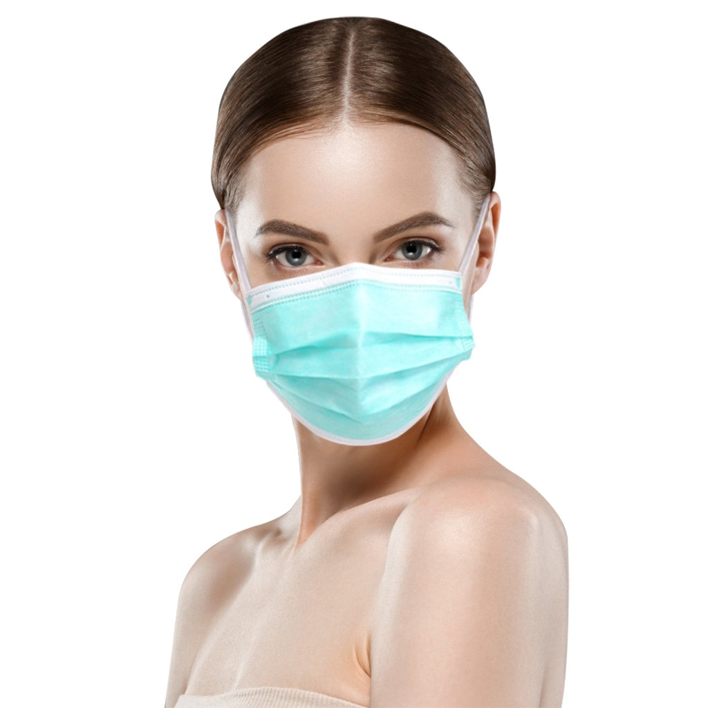 Máscara descartável verde do adulto 3ply da máscara da tela de 10/20 pces não-tecido capa protetora respirável filtros mascarillas masque jetable