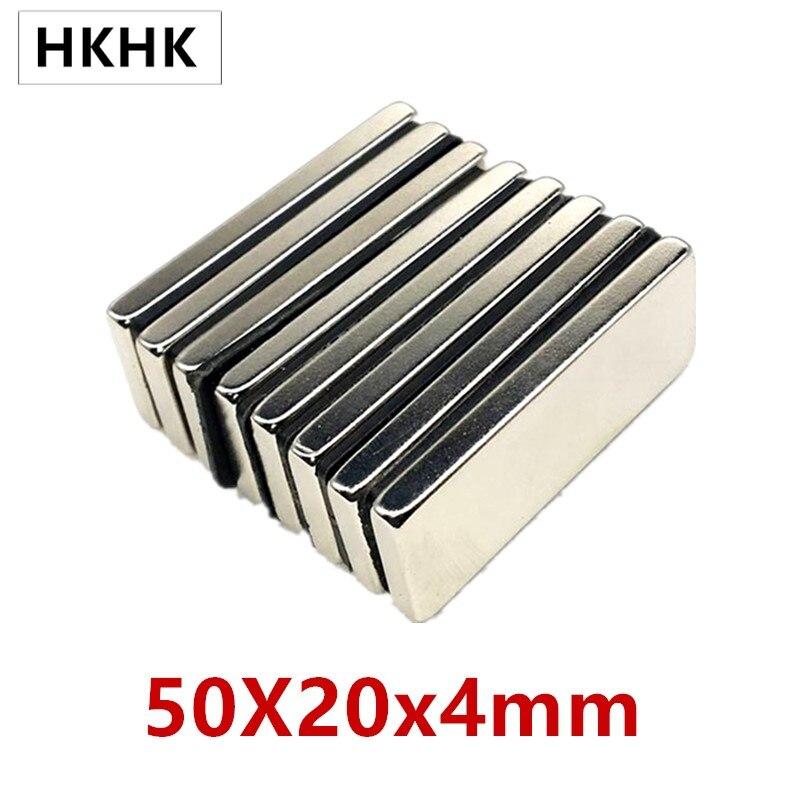 5/10 шт./лот прямоугольный магнит 50x20x4 неодимовый магнит 50*20*4 магнит NdFeB 50x20x4 квадратный редкоземельный магнит NdFeB
