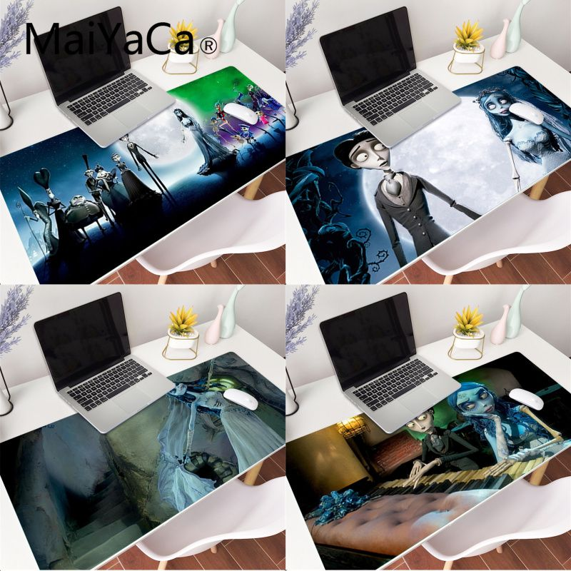 Corpse Bride Extra Large Mouse Pad Big Computer Gaming Mousepad Anti-slip Natural Rubber with Locking Edge Gaming Mouse Mat new arrival slim elegant anti slip aluminum alloy computer gaming mouse pad mat mousepad