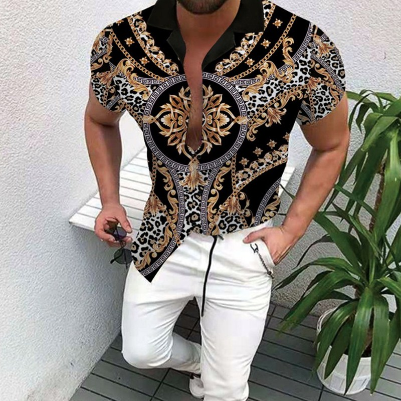 Горячая Распродажа, Новинка лета 2021, Мужская одежда, рубашка с принтом, трендовая рубашка, кардиган, мужская Высококачественная модная моно...