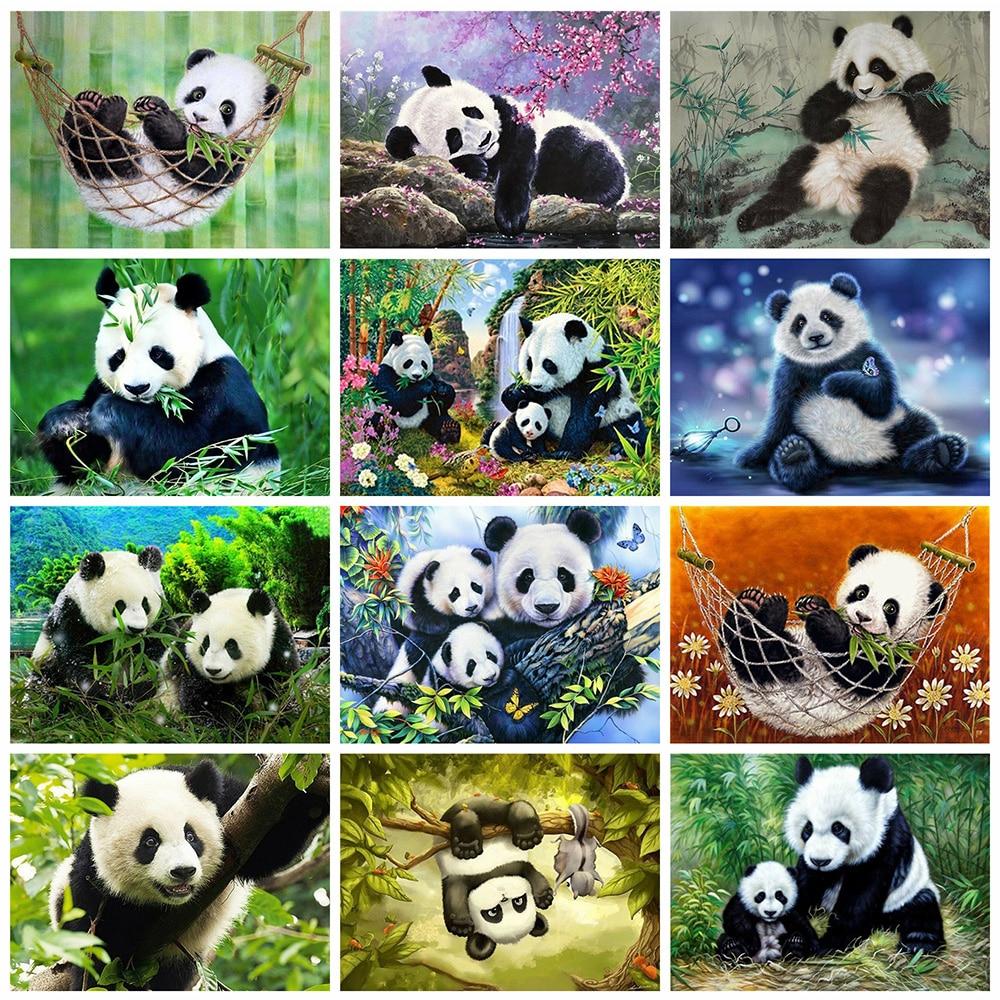 Evershine Diamond Painting Panda 5D DIY Full Square Drill Animals Embroidery Cross Stitch Kit Home Decoration Art
