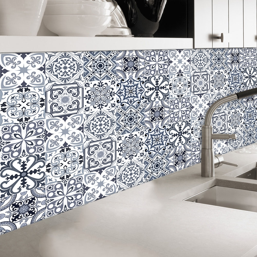 Creativity Tile Wall Stickers Home Decoration For Bathroom Beautification of Wall Joints Art Wallpaper Peel & Stick Wall Decals