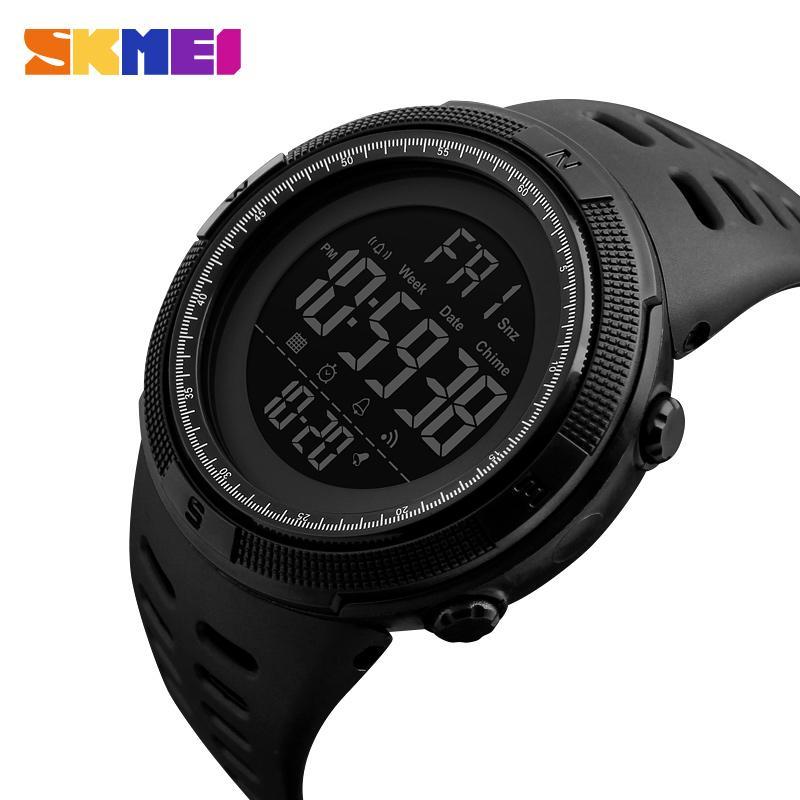 Reloj deportivo SKMEI de moda para Hombre, relojes multifunción, Reloj despertador 5Bar Chrono, Reloj Digital resistente al agua para Hombre 1251