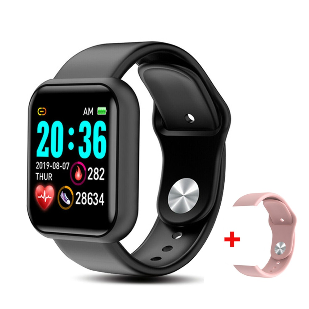 Y68 smartwatch d20 pro masculino, relógio inteligente, monitor cardíaco, monitor de pressão sanguínea, monitor de atividades esportivas, para apple ios e android