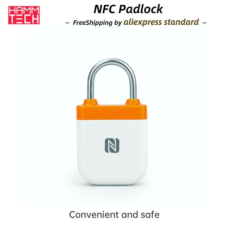 قفل NFC ذكي بدون قفل قوي للهاتف المحمول IPX5 الصالة الرياضية عنبر الفندق في الهواء الطلق الأمتعة والخزائن لقفل العلامة