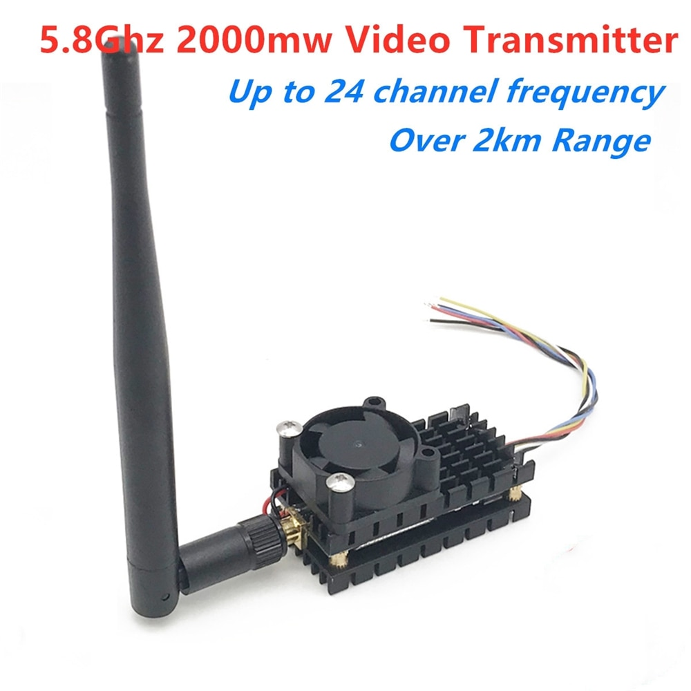 mini 5 8g fpv receiver uvc video downlink otg ts832 48ch 5 8g 600mw wireless audio video transmitter for vr android phone Over 2Km Range 5.8Ghz 2W FPV Wireless Transmitter TS582000 5.8G 2000MW 8CH Video AV Audio Sender