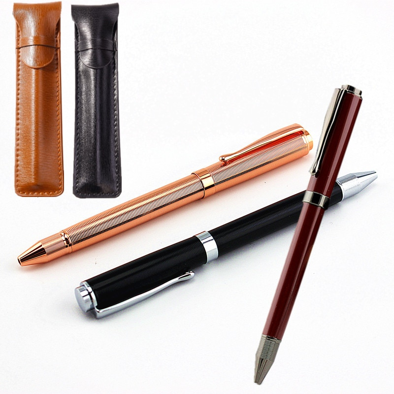 Роскошная Металлическая Шариковая Ручка 0,7 мм, Золотая шариковая ручка, Офисная деловая ручка, школьные канцелярские принадлежности