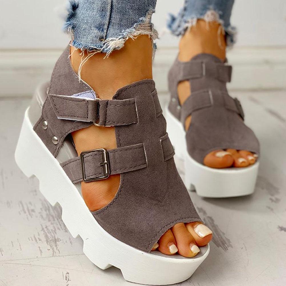 SARAIRIS 2020 Fashion Summer Platform Wedge High Heels Casual Comfortable Light Leisure Shoes Woman Sandals Women Shoes Female
