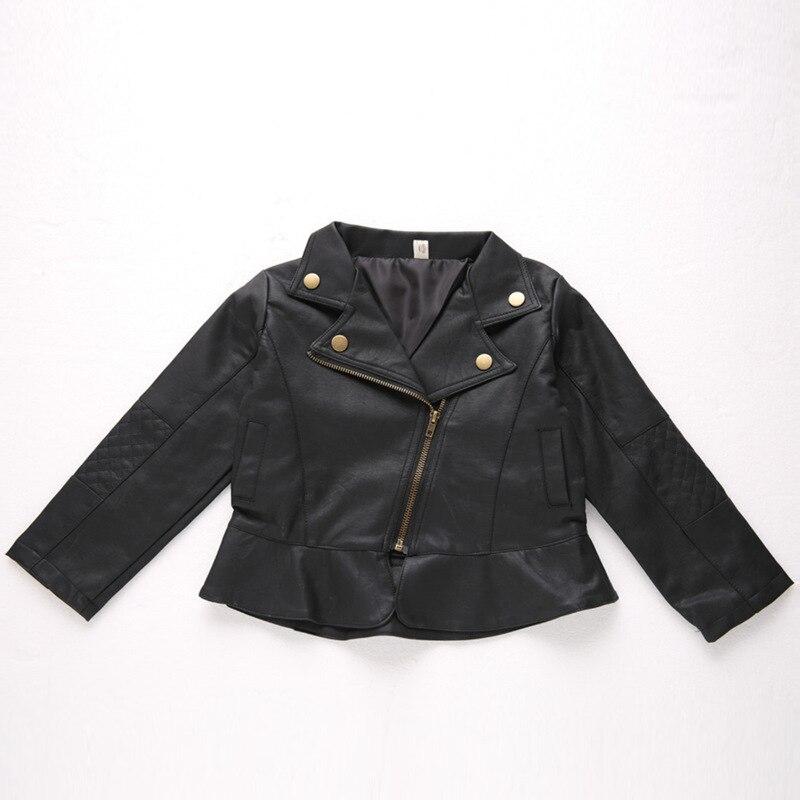 Meninas jaqueta de couro do plutônio para meninos 2019 outono quente sólido casual outerwear roupas de couro crianças jaqueta adolescentes casacos 1 2-6y