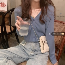 Thin Type Sunscreen Small Cardigan Women's 2020 New Fashionable Stylish Slimming V-Neckline Knitted
