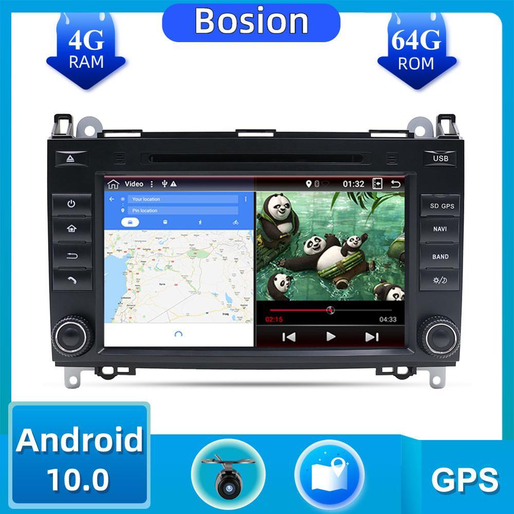 DVD GPS 4G 6G HDMI   Pour Mercedes Benz Sprinter B200 Vito Viano W209 W169 W169 classe B W245 B170 W639 2 din, Android 10.0, voiture