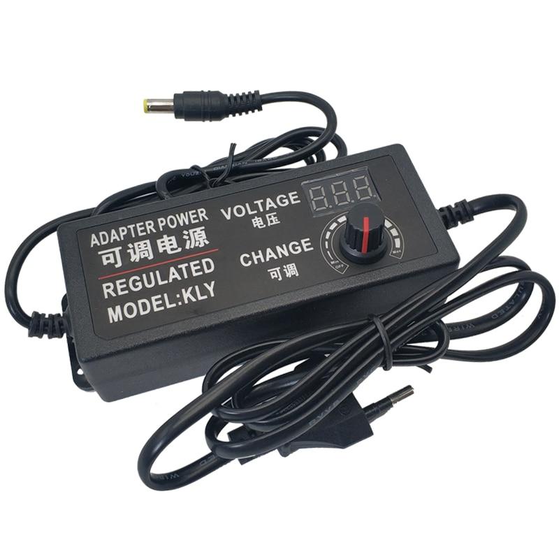 power supply adapter adjustable ac to dc 220v to 3v 6v 9v 12v 24v power supply 3 12 24 v lighting transformers display screen AC DC 3V 9V 12V 24V Power Supply Adapter Adjustable display screen Voltage Regulated Transformers 220V To 12V Power Supply 5V