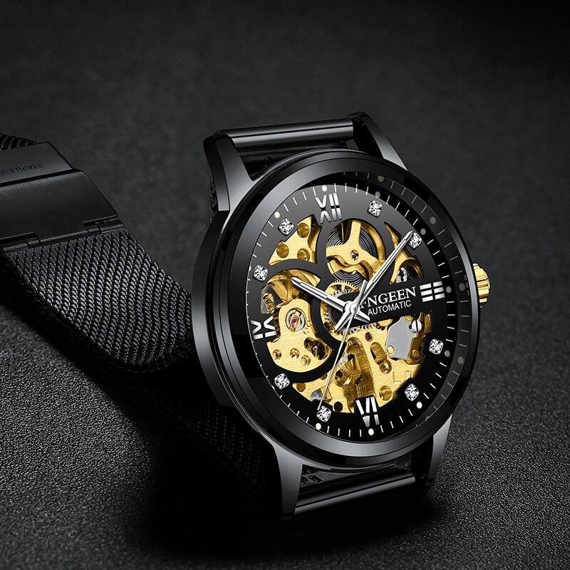 Skeleton Watch 2021 New FNGEEN Sport Mechanical Watch Luxury Watch Mens Watches Top Brand Montre Hom