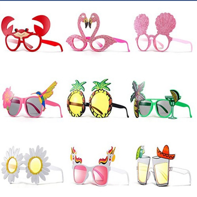 Hawaiian Style Beach Glasses Summer Yellow Beer Glass Sunglasses Glasses Prom Party Beer Glasses