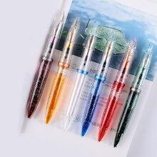 Şeffaf şeffaf damlalıklı dolma kalem EF/F uç yüksek kapasiteli mürekkep kalemler okul yazma ofis malzemeleri için kırtasiye