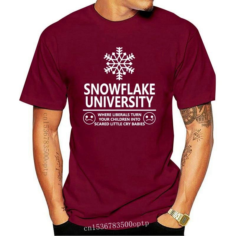New Snowflake University Where Liberals Turn Children into Babies Men's T Shirt T-Shirt Cotton Men Short Sleeve Tee Shirts