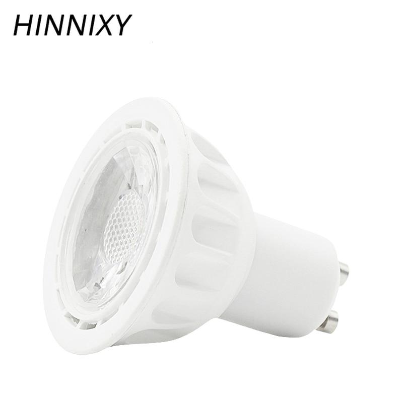 Hinnixy RA80 CE MR16 GU10 bombilla de foco LED para lámpara colgante uso 5W 110-220V carcasa blanca para bombillas de sala de estar 450LM
