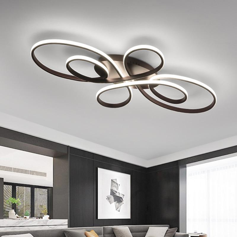 aluminum white black Modern LED  living room dining room bedroom study balcony  home decoration ceiling lamp