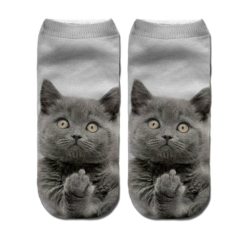 New 3D Printing Women Brand Fashion Unisex stretchy Christmas Warm Socks cat Meias Womens men Funny Ankle Sock free shiping