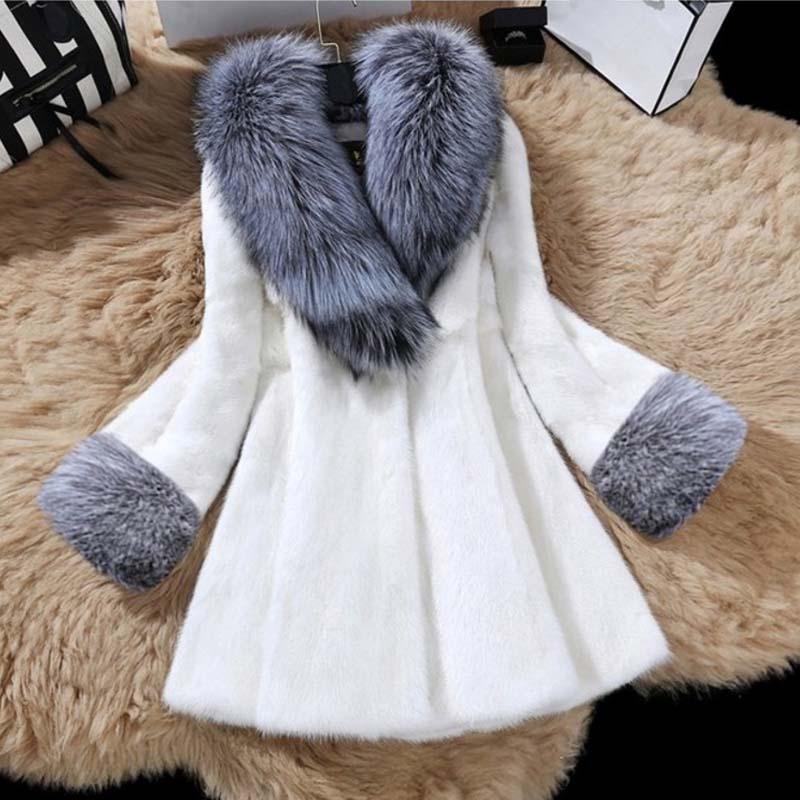 Элегантное пальто из искусственного меха норки, новинка 2021, корейские женские дизайнерские пушистые зимние куртки, Толстая теплая верхняя ...