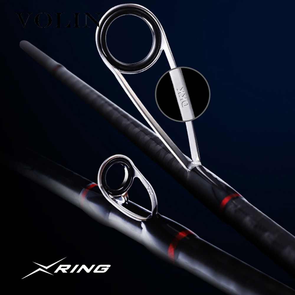 VOLIN 4 Sections Spinning Rod Combo with Case Set FUJI Reel Seat Fast Action Carbon Travel Rod Spinning Reel DKK-SIC Guide Ring enlarge