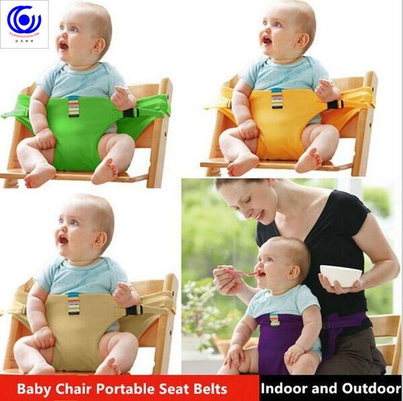 Детское кресло для кормления, переносное сиденье-бустер для малышей, детское сиденье, безопасное питание, длинный ремень, аксессуары для кр...