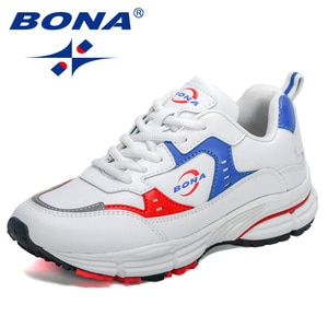 BONA 2021 New Designers Athletic Sneakers Women Light Weight Sport Shoes Soft Sole Ladies Shoes Breathable Walking Shoes Woman