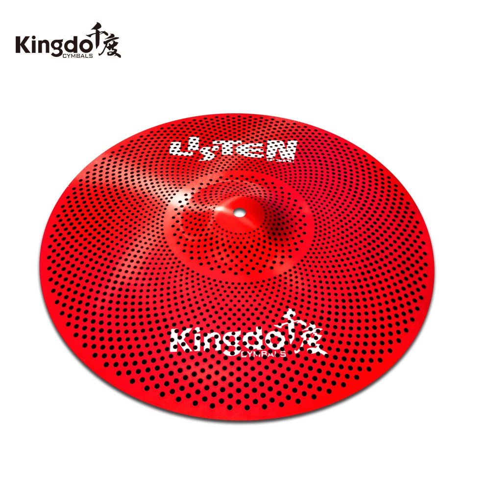 "Kingdo ouvir série vermelha 10 ""splash cymbal baixo volume"
