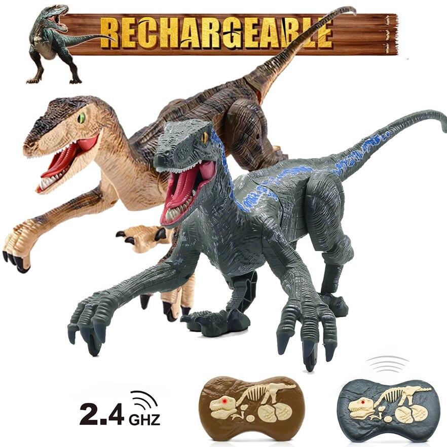 2.4G RC Dinosaur Toys Jurassic Remote Control Dinosaur Toy Simulation Walking RC Robot With Lighting Sound Dino Kids Xmas Gift
