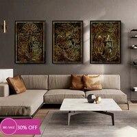 Toile de decoration de noel  affiches  12 Constellations  tableau dart mural pour salon  decoration de maison