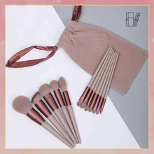 13Pcs Makeup Brushes Tool Set Cosmetic Powder Eye Shadow Foundation Blush Blending Beauty Make Up Br