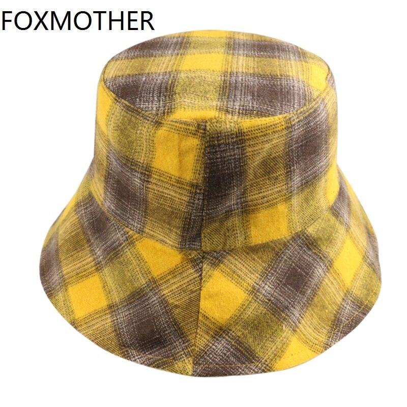 FOXMOTHER 2020 новая клетчатая модная Панама женская летняя пляжная широкополая шляпа от солнца шляпы хип-хоп Уличная Летняя женская пляжная шляпа от солнца