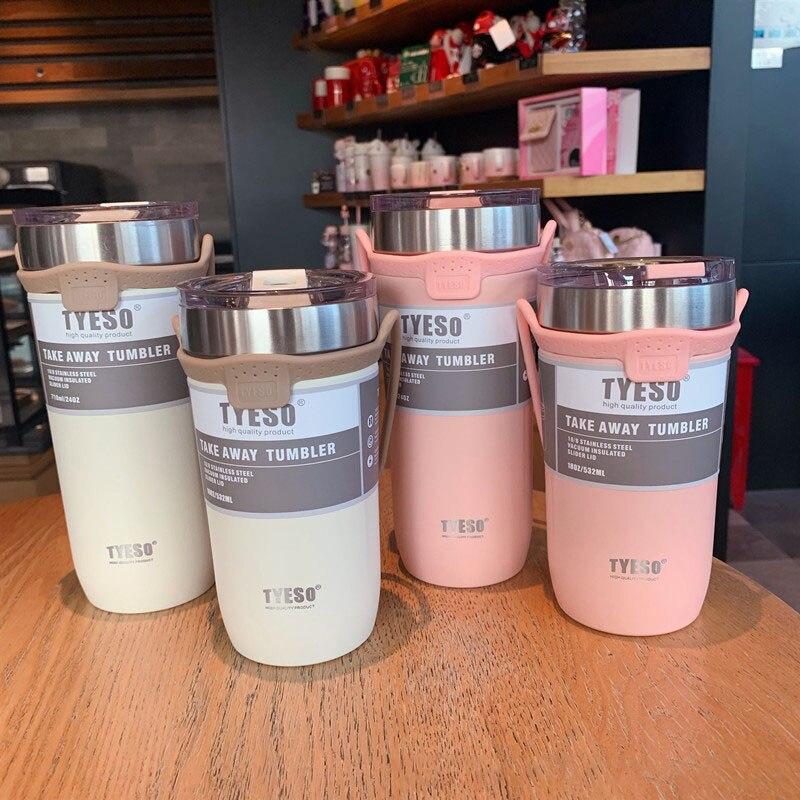 Портативный вакуумная изоляция чашки холодной Сохранение Кофе чашка термос с двойными стенками из нержавеющей стали термос для путешестви...