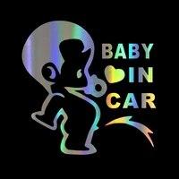 car sticker car baby funny car sticker reflective laser 3d car sticker vinyl windshield bumper motorcycle helmet decal pvc