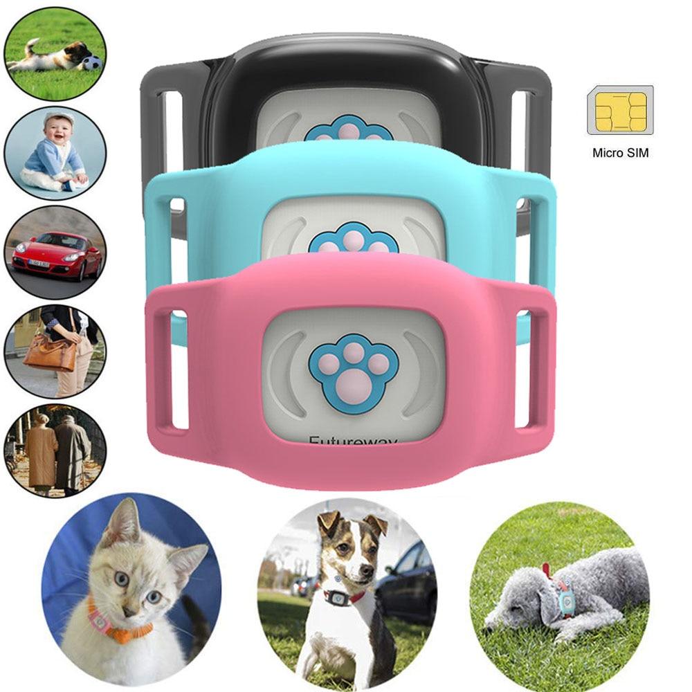 Pet Mini inteligente impermeable Anti pérdida GPS rastreador Collar perro gato Global SMS posicionamiento geo-cerca seguimiento en tiempo Real localizador de D20