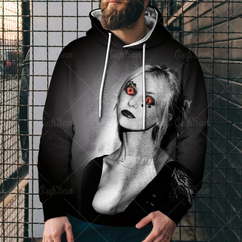 Фото - Fashion Spring Autumn 3D Printing Horror Ghost Pattern Men's/Women's Hoodies Street Personality Wild Loose Oversized Sports Tops mark wild street meeting