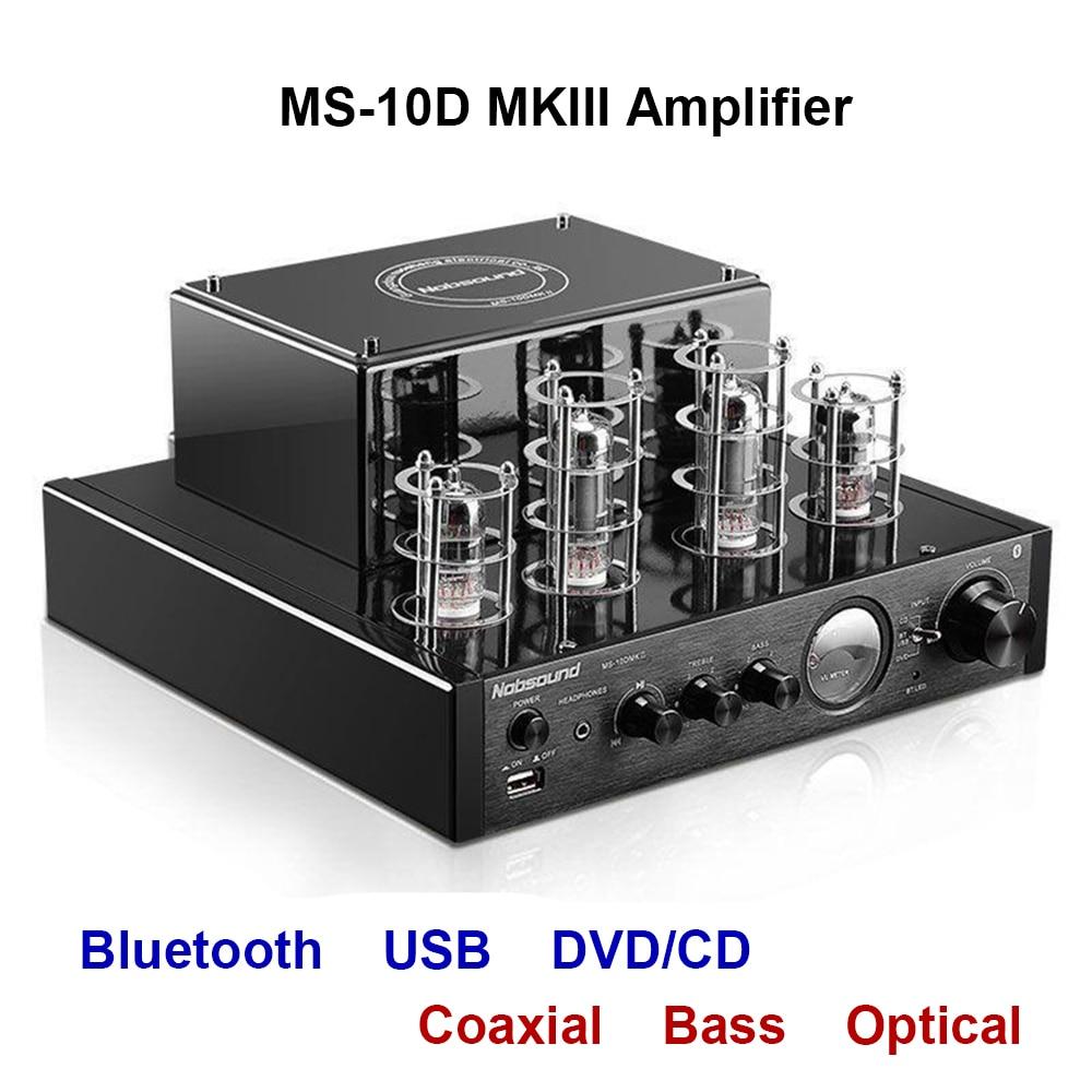 Nobsound MS-10D MKII MS-10D MKIII مضخم فراغ مُضخّم صوت دعم بلوتوث USB بصري محوري باس DVD CD الإدخال