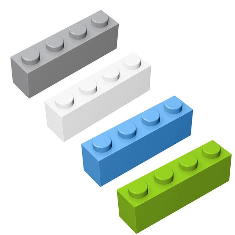 Building Brick 1x4 ( 3h ) 3010 Moc Creative DIY Enlighten Basics Blocks Classic Sets Assembles Particle Brick Toy free shipping