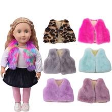 18 Inch American Doll Girls Dress Fur Vest Coat Newborn Clothes Newborn Baby Toys Accessories Fit 40