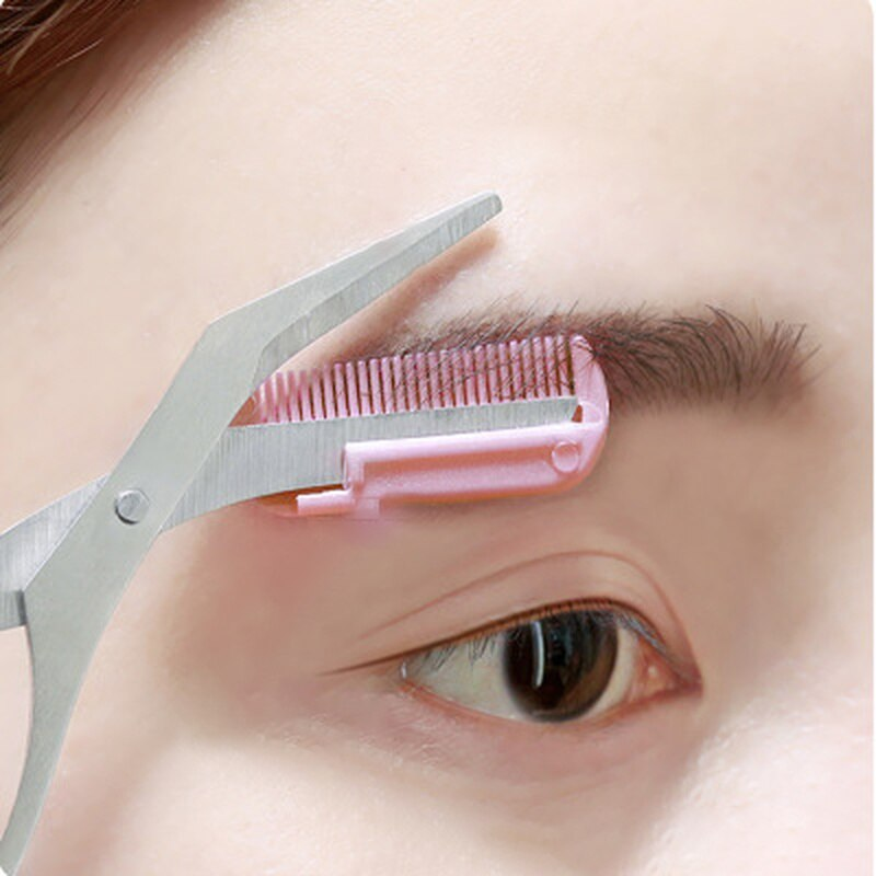 Eyebrow Trimmer Scissor with Comb Facial Hair Removal Grooming Shaping Shaver Cosmetic Makeup Access