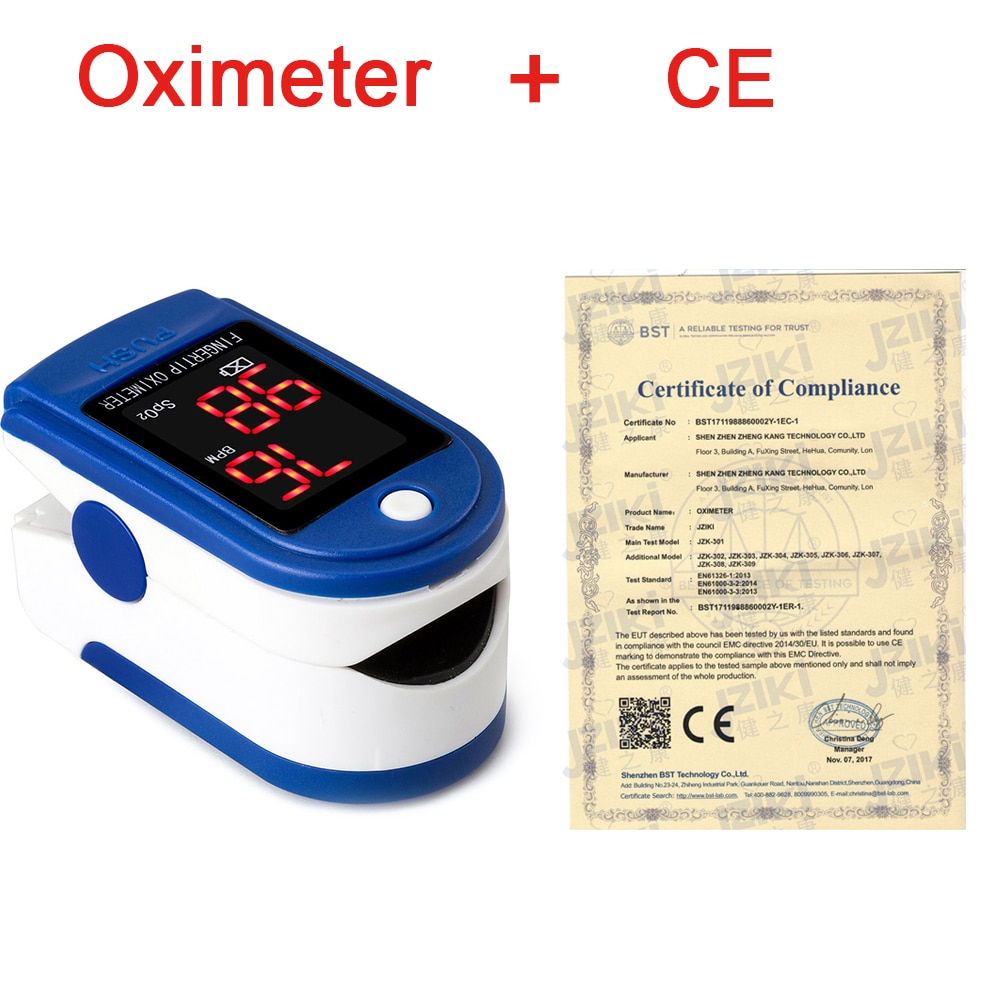 Medical Household Digital Fingertip pulse Oximeter Blood Oxygen Saturation Meter Finger SPO2 PR Monitor health Care CE