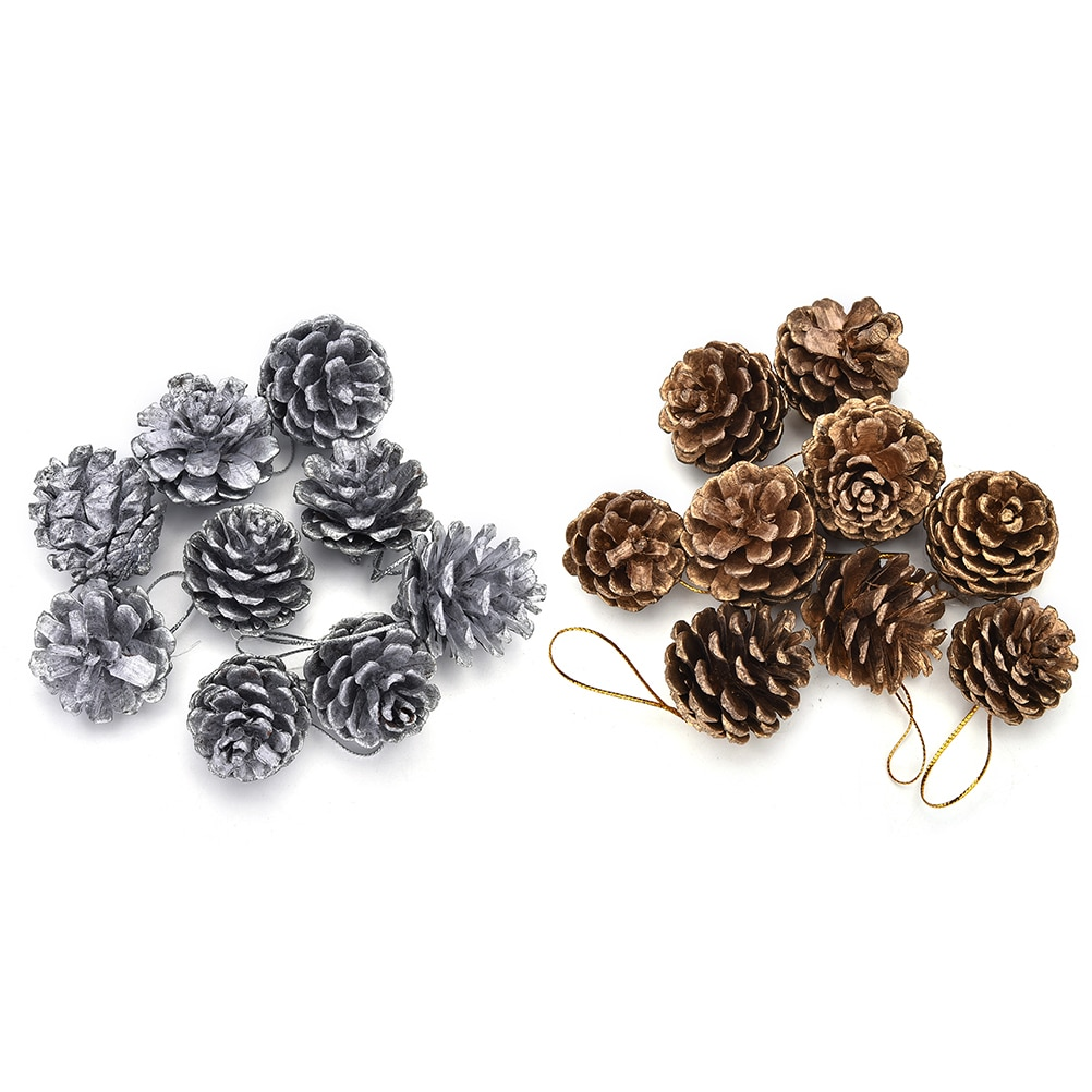 Christmas Tree Pine Cones Pinecone Hanging Ball Xmas Holiday Party Ornament Festival Supplies christ