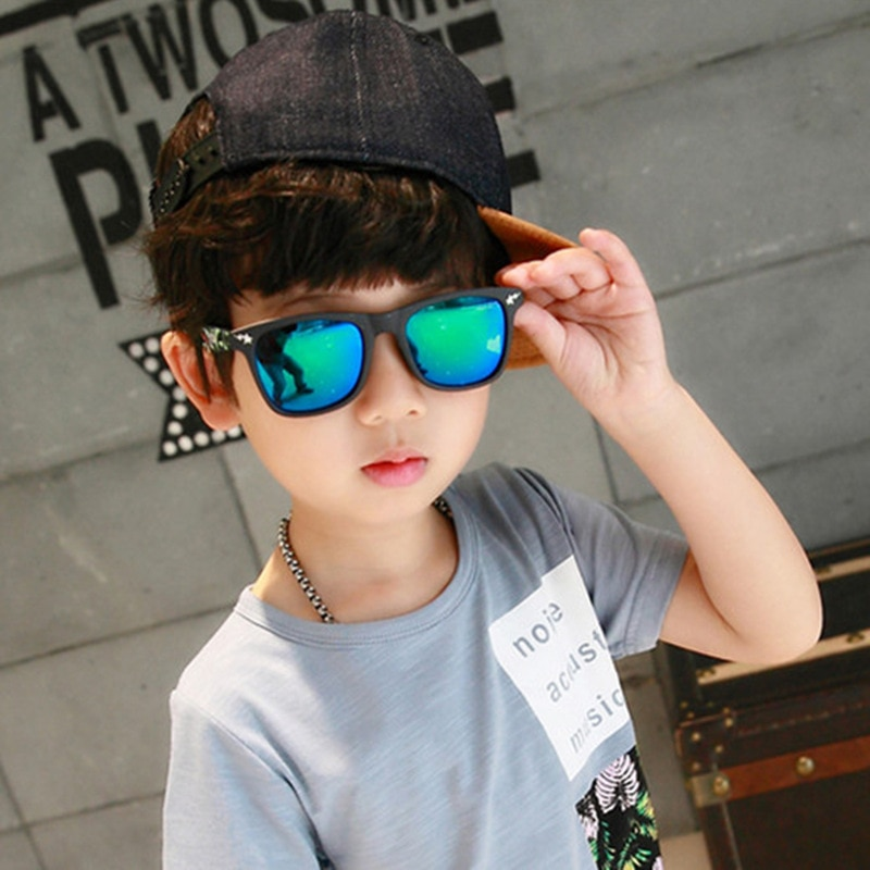 2020 Children's Fashion Sunglasses Square Mirror Sun Glasses Brand Design Sunglasses for Boys and Gi