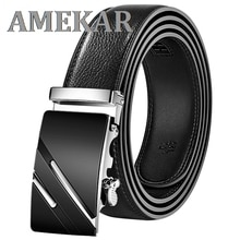 Men Belt Automatic Genuine Leather Luxury Black Belt Men's Belts Automatic Buckle High Quality belt
