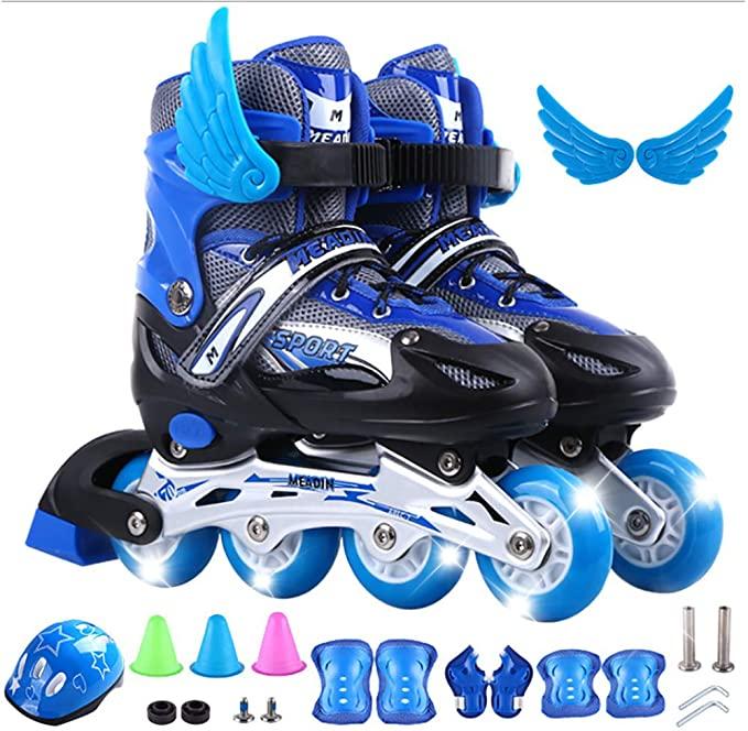 2021 модные регулируемые роликовые коньки, Детские мигающие роликовые коньки, четыре роликовых конька, детские роликовые коньки для улицы