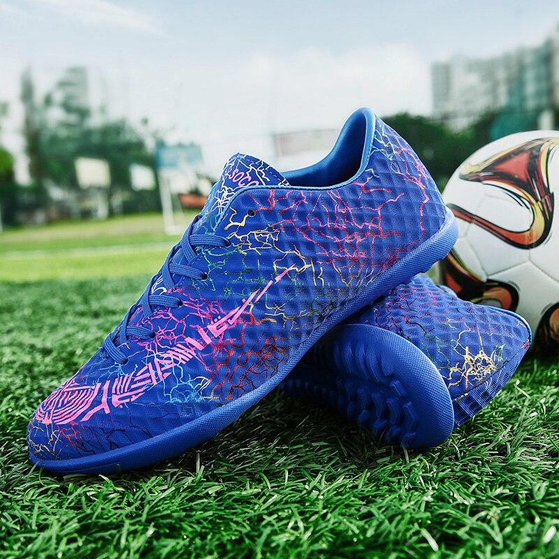ZHENZU, botas de fútbol de césped para hombres, zapatos de fútbol para interiores para niños, tacos originales, zapatillas deportivas, talla de zapatillas 35-44, calzado de pie