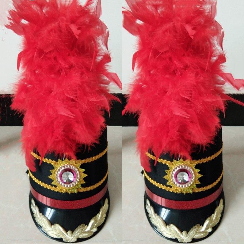 جديد أسود قبعة عالية قبعة طبل فريق الشرف زي حارس قبعة ملهى ليلي DJ الإناث المغني المرحلة قبعة 2020